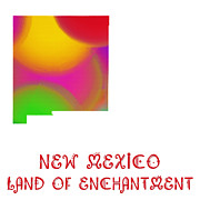 New Mexico Mixed Media - New Mexico State Map Collection 2 by Andee Photography