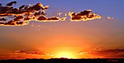Las Cruces Art Posters - New Mexico Sunset Glow Poster by Barbara Chichester
