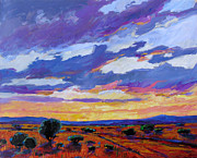 Sun Baker Posters - New Mexico Sunset Poster by Patty Baker