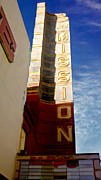 Old Signs Paintings - New Mission Marque by Jerry  Grissom