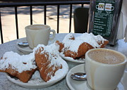 Cafe Photo Prints - New Orleans Breakfast Print by Carol Groenen