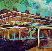 Street Rod Paintings - New Orleans Cafe DuMonde by Karen Ahuja