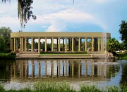 Neo-classical Framed Prints - New Orleans City Park - Peristyle Framed Print by Deborah Lacoste