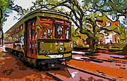 Live Oaks Digital Art - New Orleans Classique line art by Steve Harrington
