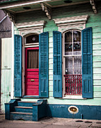 French Door Digital Art Prints - New Orleans Colors Print by Perry Webster