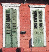 New Orleans Pastels Prints - New Orleans French Quarter Shutters Doors Colors Louisiana Artwork Print by Olde Time  Mercantile