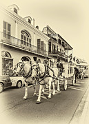 New Orleans Oil Photos - New Orleans Funeral sepia by Steve Harrington
