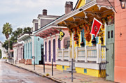 Shutters Framed Prints - New Orleans Happy Houses Framed Print by Christine Till