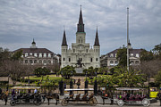 Jackson Prints - New Orleans Jackson Square Day Print by John McGraw