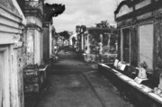 Headstone Prints - New Orleans Lafayette cemetery Print by Christine Till