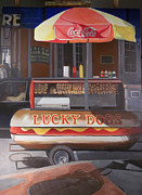 Hot Dog Stand Paintings - New orleans lucky dog by Walt Maes
