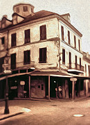 Black And White Photography Paintings - New Orleans - Old Absinthe Bar by Gregory Dyer