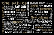 Saints Digital Art Posters - New Orleans Saints Poster by Jaime Friedman
