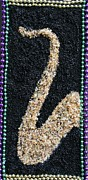 Seed Beads Prints - New Orleans Sax Print by Monica Art-Shack