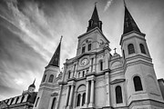 Steve Harrington - New Orleans St Louis Cathedral bw