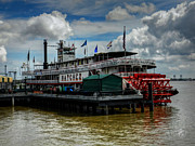 Riverboat Prints - New Orleans - Steamboat Natchez 001 Print by Lance Vaughn