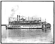 Steamboat Digital Art Prints - New Orleans  Steamship 1910 Print by Bill Cannon