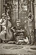 Steve Harrington - New Orleans Street Musicians - Paint bw