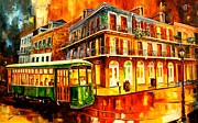 New Orleans Paintings - New Orleans Streetcar by Diane Millsap