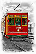French Quarter Digital Art Posters - New Orleans Streetcar vignette Poster by Steve Harrington
