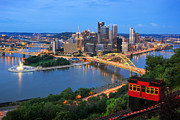 Rivers Ohio Prints - New Pittsburgh  Print by Emmanuel Panagiotakis