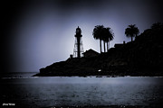 Point Guard Posters - New Point Loma Lighthouse silhouette Poster by Cheryl Young