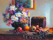 Table Cloth Painting Prints - New Reflections Print by Talya Johnson