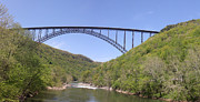 Fayetteville - Arkansas Framed Prints - New River Gorge Bridge 2 Framed Print by Teresa Mucha