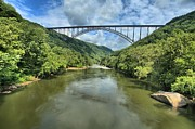 Single Span Posters - New River Gorge Bridge Poster by Adam Jewell