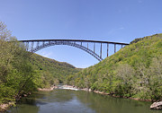 Single Span Posters - New River Gorge Bridge Poster by Teresa Mucha