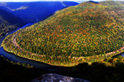 Fall Landscape Print Prints - New River Gorge Print by Melissa Petrey