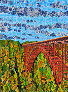 Abstract Acrylic Posters - New River Gorge Poster by Micah Mullen