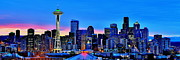 Seattle Skyline Posters - New Seattle Day Poster by Benjamin Yeager