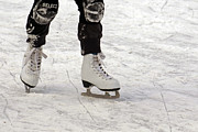 Skates Prints - New Skates Print by Inge Riis McDonald