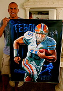 Tim Tebow Paintings - New Tebow Heisman 15 Limited Edition Canvas Prints 40 X 30 Inches Now Signed By Tim by Sports Art World Wide John Prince