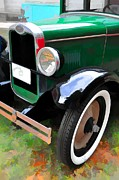 Reflections Digital Art Posters - New Tires Poster by Jan Amiss Photography