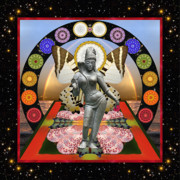 Hindu Goddess Photo Posters - New Two Poster by Bell And Todd
