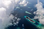 Jenny Rainbow - New Upcoming Resort.  Aerial Journey over Maldives