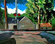 Small Town Paintings - New Wavery Nickel Plate Line by Charlie Spear