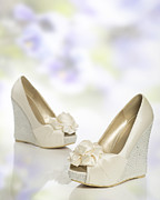 Wedding Photo Prints - New Wedding Sandals Print by Christopher and Amanda Elwell