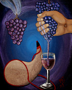 Wine Pour Painting Framed Prints - New Wine Framed Print by Pamorama Jones