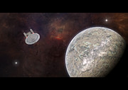 Enterprise Digital Art Prints - New worlds Print by Ian Merton