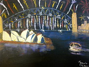 Eve Originals - New Year Eve on Sydney Harbour by Pamela  Meredith