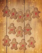 Sparkles Prints - New Year Gingerbread Print by Christopher and Amanda Elwell