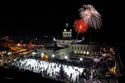 Kingston City Hall Prints - New Year Rockin In The Clock Print by Paul Wash