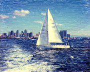 Surf Photos Art Originals - New Years Day Sailing by Glenn McNary