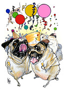 Canine Caricatures By John LaFree - New Year