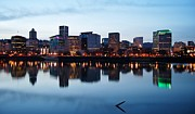 New Year Sunset Prints - New Years Sunset in Portland Print by Jairo Vargas
