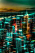 Hannes Cmarits - New York - the night awakes - green
