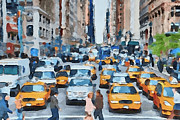 Live Art Digital Art Prints - New York 1 Print by Yury Malkov